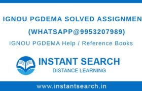 IGNOU PGDEMA Solved Assignment