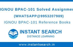 Free IGNOU BPAC101 Assignment