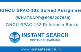 Free IGNOU BPAC102 Assignment