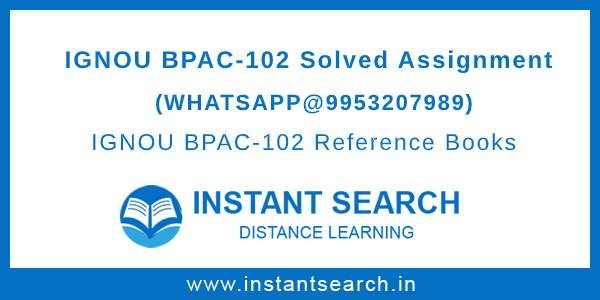Free IGNOU BPAC102 Assignment