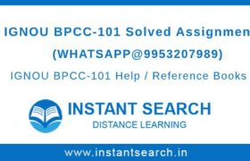 Free IGNOU BPCC101 Assignment