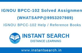 Free IGNOU BPCC102 Assignment