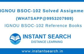 Free IGNOU BSOC102 Assignment