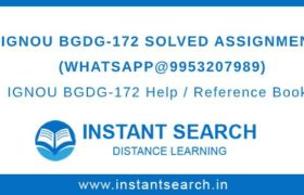 IGNOU BGDG-172 Assignment