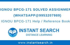 IGNOU BPCG171 Assignment