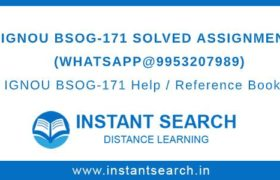 IGNOU BSOG171 Assignment