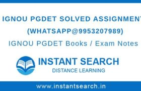 IGNOU PGDET Assignment