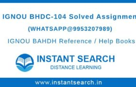 BHDC104 Assignment IGNOU