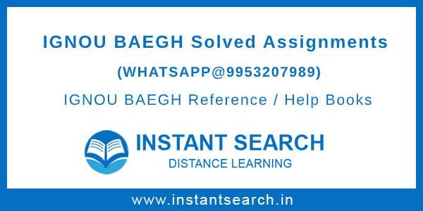 BAEGH Ignou Assignment