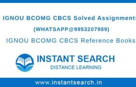 BCOMG Ignou Assignment