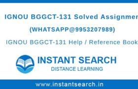 BGGCT-131 Assignment