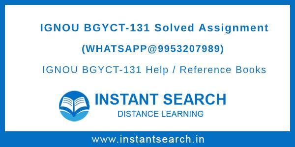 BGYCT131 Assignment