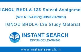BHDLA135 Assignment IGNOU