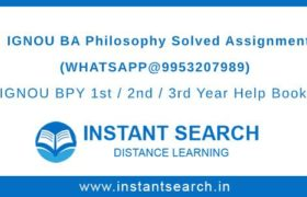 IGNOU BA Philosophy Assignment