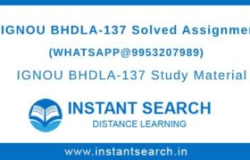 IGNOU BHDLA-137 Assignments