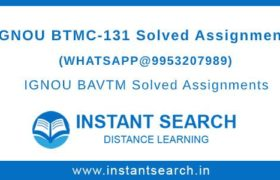 IGNOU BTMC131 Assignment