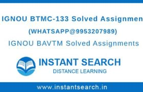IGNOU BTMC133 Assignment