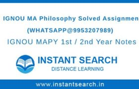 IGNOU MA Philosophy Assignment
