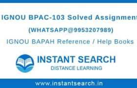 IGNOU BPAC103 Assignment